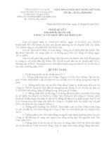 Nghị quyết Hội đồng Quản trị ngày 22-02-2011 - Công ty Cổ phần Bến xe Miền Tây