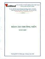 Báo cáo thường niên năm 2009 - Công ty cổ phần Đầu tư Bất động sản Việt Nam