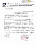 Báo cáo tài chính công ty mẹ năm 2015 (đã kiểm toán) - Tổng Công ty Cổ phần Tái bảo hiểm quốc gia Việt Nam