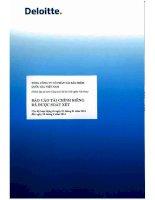 Báo cáo tài chính công ty mẹ quý 2 năm 2014 (đã soát xét) - Tổng Công ty Cổ phần Tái bảo hiểm quốc gia Việt Nam
