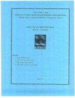Báo cáo tài chính hợp nhất quý 4 năm 2011 - Công ty Cổ phần Kinh doanh Khí hóa lỏng Miền Bắc