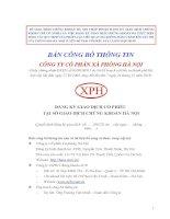 Bản cáo bạch - Công ty Cổ phần Xà phòng Hà Nội