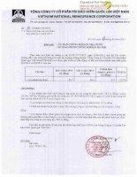 Báo cáo tài chính hợp nhất quý 4 năm 2014 - Tổng Công ty Cổ phần Tái bảo hiểm quốc gia Việt Nam