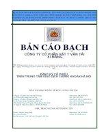 Bản cáo bạch - Công ty Cổ phần VICEM Vật tư Vận tải Xi măng