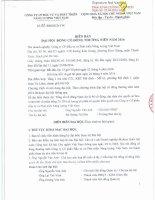 Nghị quyết Đại hội cổ đông thường niên - Công ty Cổ phần Đầu tư và Phát triển Năng lượng Việt Nam