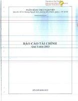 Báo cáo tài chính công ty mẹ quý 1 năm 2013 - Ngân hàng Thương mại cổ phần Quốc Dân