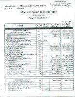 Báo cáo tài chính hợp nhất quý 3 năm 2011 - Công ty cổ phần Y Dược phẩm Vimedimex