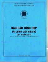 Báo cáo tài chính công ty mẹ quý 2 năm 2014 - Tổng công ty Cổ phần Xây dựng điện Việt Nam
