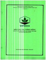 Báo cáo tài chính công ty mẹ quý 3 năm 2015 - CTCP Thuốc sát trùng Việt Nam