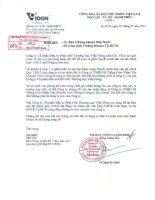 Báo cáo tài chính quý 1 năm 2012 - Công ty Cổ phần Đầu tư Phát triển Thương mại Viễn Đông