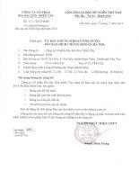 Báo cáo tài chính hợp nhất năm 2014 (đã kiểm toán) - Công ty Cổ phần Bia Sài Gòn - Miền Tây
