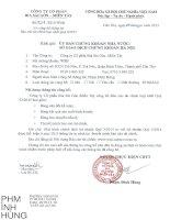 Báo cáo tài chính hợp nhất quý 3 năm 2015 - Công ty Cổ phần Bia Sài Gòn - Miền Tây