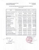 Báo cáo KQKD hợp nhất quý 4 năm 2010 - Công ty Cổ phần Bất động sản Du lịch Ninh Vân Bay