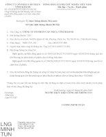 Nghị quyết Hội đồng Quản trị - Công ty cổ phần Cáp Nhựa Vĩnh Khánh