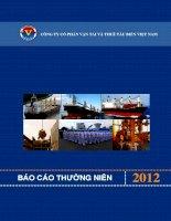 Báo cáo thường niên năm 2012 - Công ty Cổ phần Vận tải và Thuê tàu biển Việt Nam