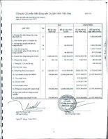 Báo cáo KQKD công ty mẹ quý 4 năm 2011 - Công ty Cổ phần Bất động sản Du lịch Ninh Vân Bay