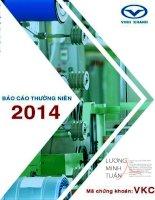 Báo cáo thường niên năm 2014 - Công ty cổ phần Cáp Nhựa Vĩnh Khánh
