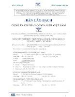 Bản cáo bạch - Công ty cổ phần Tập đoàn Container Việt Nam
