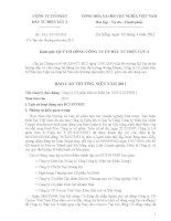 Báo cáo thường niên năm 2011 - CTCP Đầu tư Điện lực 3