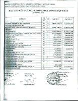 Báo cáo KQKD hợp nhất quý 1 năm 2011 - Công ty Cổ phần Đầu tư và Xây dựng Cấp thoát nước