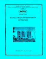Báo cáo tài chính hợp nhất quý 3 năm 2015 - Công ty Cổ phần Đầu tư và Xây dựng Cấp thoát nước
