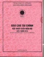 Báo cáo tài chính hợp nhất quý 2 năm 2015 - Tổng công ty Cổ phần Xây dựng điện Việt Nam