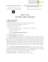 Báo cáo thường niên năm 2014 - Công ty cổ phần Vận tải và Dịch vụ Petrolimex Sài Gòn