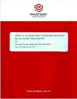 Báo cáo tài chính quý 3 năm 2014 - Công ty cổ phần Phát triển Bất động sản Phát Đạt
