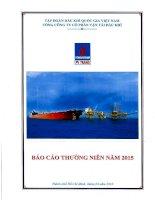 Báo cáo thường niên năm 2015 - Tổng công ty Cổ phần Vận tải Dầu khí