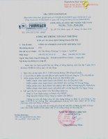 Nghị quyết Đại hội cổ đông thường niên - Công ty cổ phần Cấp nước Phú Hòa Tân