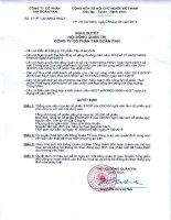 Nghị quyết Hội đồng Quản trị - Công ty Cổ phần Tập đoàn PAN