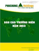Báo cáo thường niên năm 2013 - Công ty cổ phần Xây dựng Phục Hưng Holdings