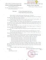 Báo cáo tài chính công ty mẹ quý 1 năm 2014 trong giai đoạn chuyển đổi - Công ty Cổ phần Vang Thăng Long