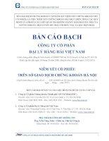 Bản cáo bạch năm 2015 - Công ty cổ phần Đại lý Hàng hải Việt Nam