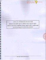 Báo cáo tài chính công ty mẹ quý 2 năm 2013 (đã soát xét) - Công ty cổ phần Địa ốc Dầu khí