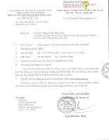 Báo cáo tài chính hợp nhất quý 4 năm 2014 - Tổng Công ty Cổ phần Dịch vụ Kỹ thuật Dầu khí Việt Nam