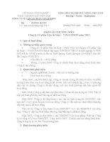 Báo cáo thường niên năm 2012 - CTCP Vận tải thủy - Vinacomin