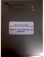 Báo cáo tài chính năm 2015 (đã kiểm toán) - CTCP Vận tải Newway
