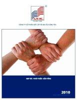 Báo cáo thường niên năm 2010 - Công ty Cổ phần Xây lắp và Địa ốc Vũng Tàu