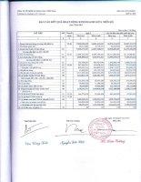 Báo cáo KQKD quý 2 năm 2011 - Công ty Cổ phần Du lịch Thành Thành Công