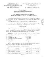 Nghị quyết Đại hội cổ đông thường niên năm 2011 - Tổng Công ty Cổ phần Dịch vụ Kỹ thuật Dầu khí Việt Nam