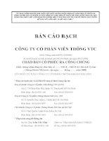 Bản cáo bạch - Công ty Cổ phần Viễn thông VTC