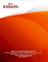 Báo cáo thường niên năm 2015 - Công ty Cổ phần Bia Sài Gòn - Miền Tây