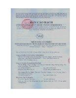 Bản cáo bạch - Công ty cổ phần Y Dược phẩm Vimedimex