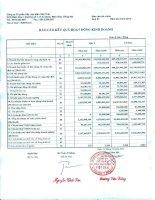 Báo cáo tài chính quý 3 năm 2014 - Công ty Cổ phần Dây cáp điện Việt Thái