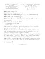 Đề thi tuyển sinh lớp 10 môn toán tây  ninh năm học 2016   2017(có đáp án)