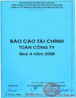 Báo cáo tài chính quý 4 năm 2008 - Tổng Công ty Tư vấn Thiết kế Dầu khí-CTCP