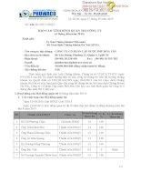 Báo cáo tình hình quản trị công ty - Công ty cổ phần Cấp nước Phú Hòa Tân