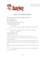 Báo cáo thường niên năm 2008 - Công ty Cổ phần Vang Thăng Long