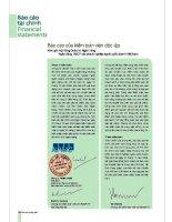 Báo cáo tài chính năm 2005 (đã kiểm toán) - Ngân hàng Thương mại Cổ phần Việt Nam Thịnh Vượng
